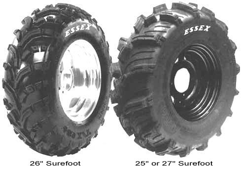 Essex SureFoot Kevlar Belted ATV tires