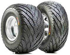 atv hard surface tire and wheel package deal