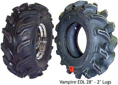 Interco Vampire ATV tires, Vampire EDL ATV tires, ATV mud tires, ATV snow tires